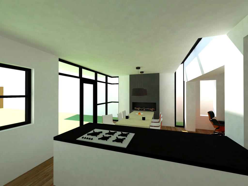 Atelier007-3D-monument-verbouwing-uitbreiding-concept-interieur-stucwerk-licht-zicht-keuken-eetkeuken-eetkamer